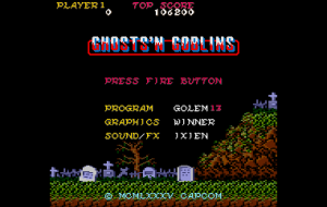 Amstrad 6128 Plus Ghosts 'n' Goblins preview